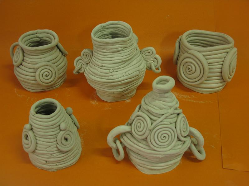 陶艺社团活动——泥条盘筑花瓶