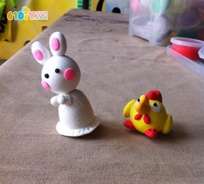 制作漂亮的彩泥小动物